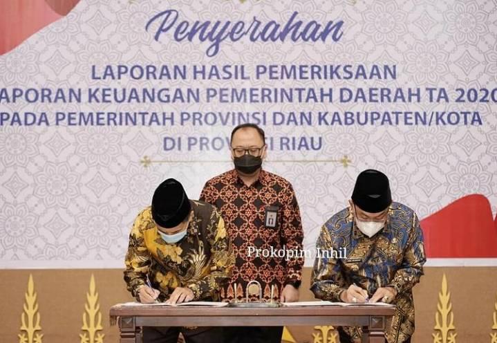 Pemerintah Kabupaten Indragiri Hilir Terima 5 Kali Berturut Turut WTP Dari BPK RI Perwakilan Riau