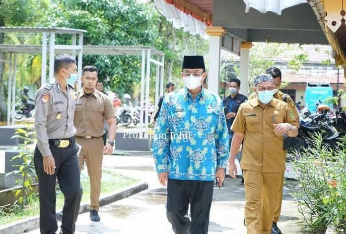 Bupati Indragiri Hilir HM Wardan Peringati Hari Otonomi Daerah Ke XXV Secara Virtual