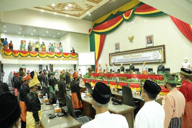Berlangsung Khidmat Rapat Paripurna DPRD Kabupaten Inhil dalam Rangka Milad Ke-56 Inhil