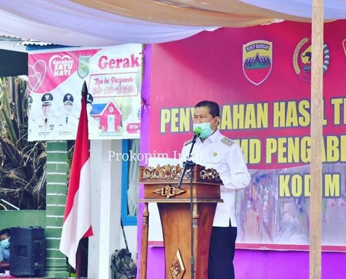 Secara Resmi Wakil Bupati H.Syamsuddin Uti Tutup TMMD Imbangan TA 2020.