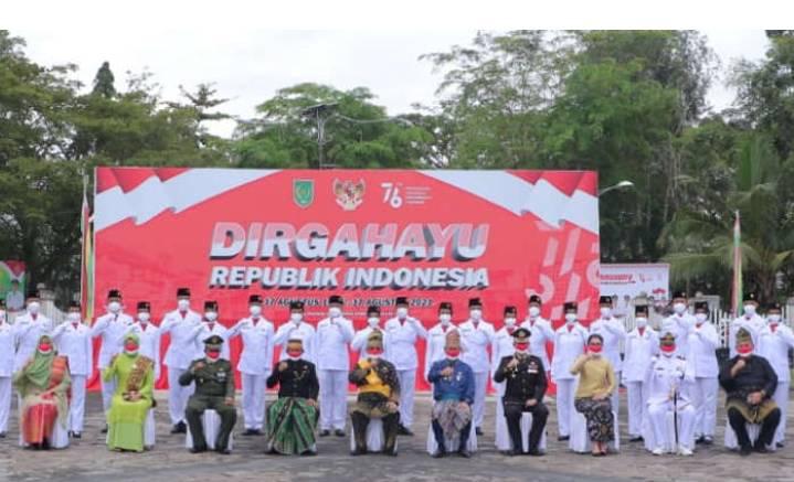 Wakil Ketua DPRD Kab Inhil Andi Rusli Ikuti Apel Hut Kemerdekaan RI Ke 76