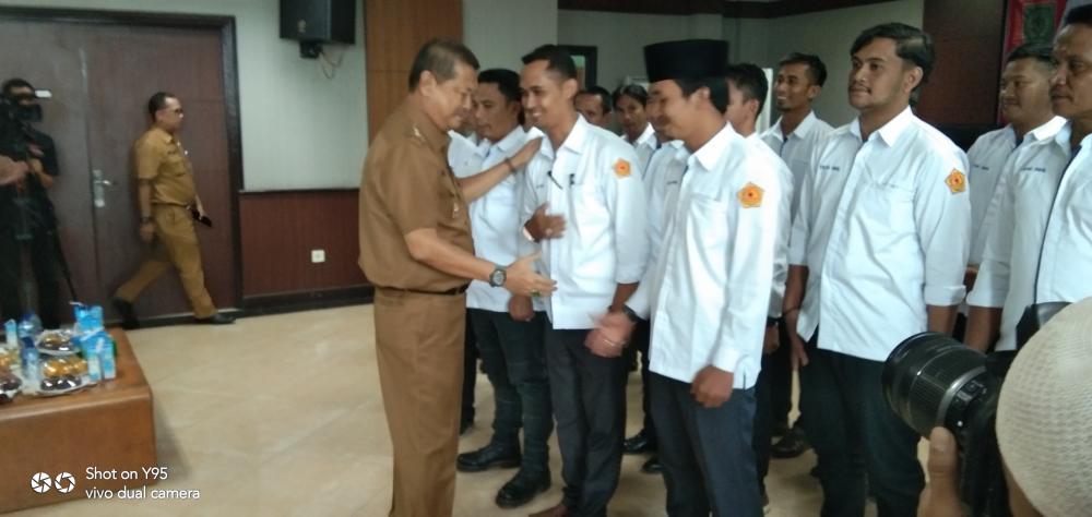 Wakil Bupati Indragiri Hilir H Syamsuddin Uti Kukuhkan Forum Komunikasi Wartawan Inhil