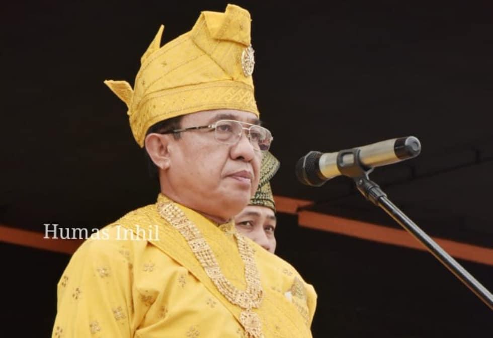 Bupati Indragiri Hilir HM Wardan Pembina Upacara Pada Hari Sumpah Pemuda Ke - 91